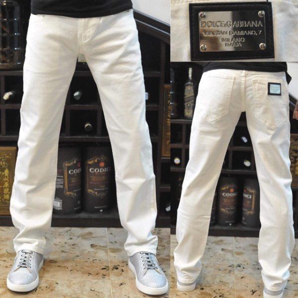quần jean dolce trắng