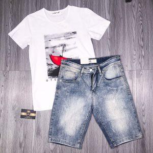 Cách phối đồ với quần short jean6